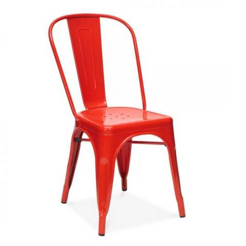 Tolix Red Cafe Chair