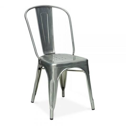 Tolix Silver Cafe Chair