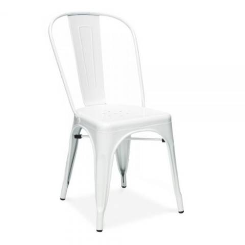 Tolix White Cafe Chair