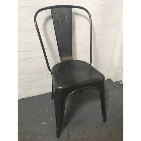 Tolix Gunmetal Cafe Chair