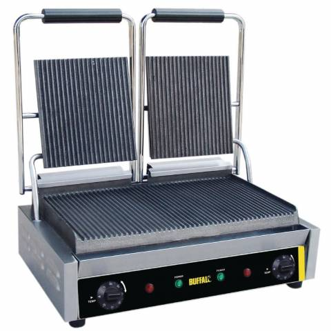Double Ribbed Panini Grill