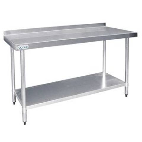 Stainless Steel Prep Table With Upstand 1800mm