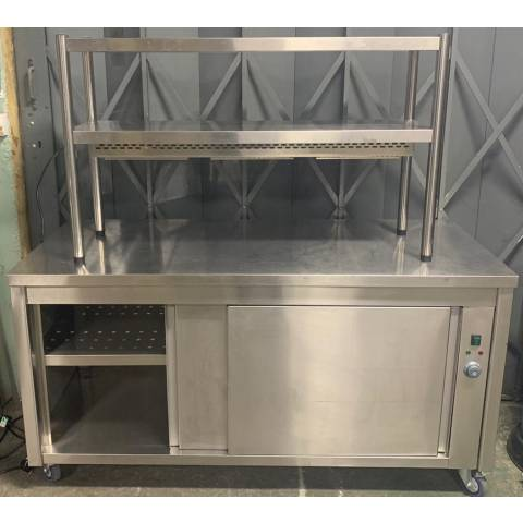 Plain Top Hot Cupboard with Heated Gantry