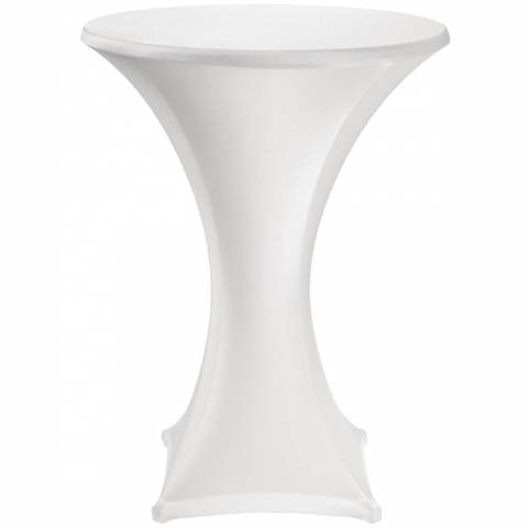 White Stretch Tablecloth - For Poseur Tables