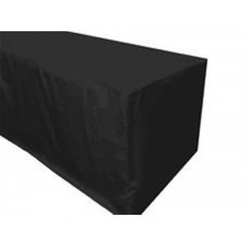 6' Fitted Banqueting Tablecloth - Black