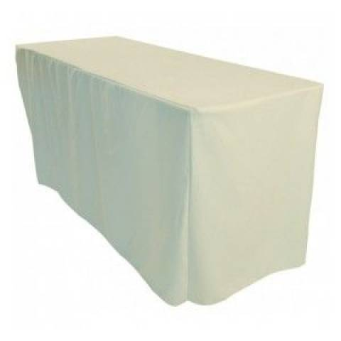 6' Fitted Banqueting Tablecloth - Ivory