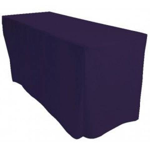 6' Fitted Banqueting Tablecloth - Navy Blue
