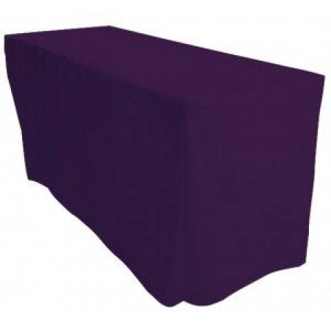 6' Fitted Banqueting Tablecloth - Purple