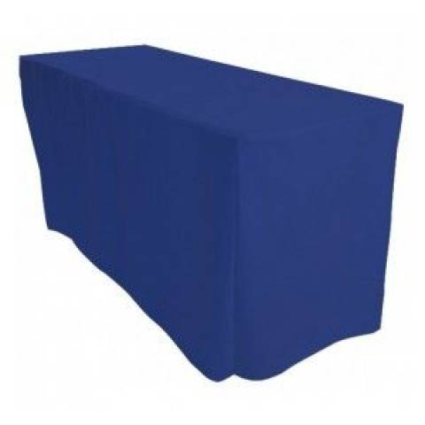 6' Fitted Banqueting Tablecloth - Royal Blue