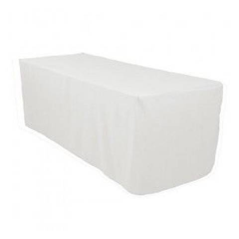 6' Fitted Banqueting Tablecloth - White