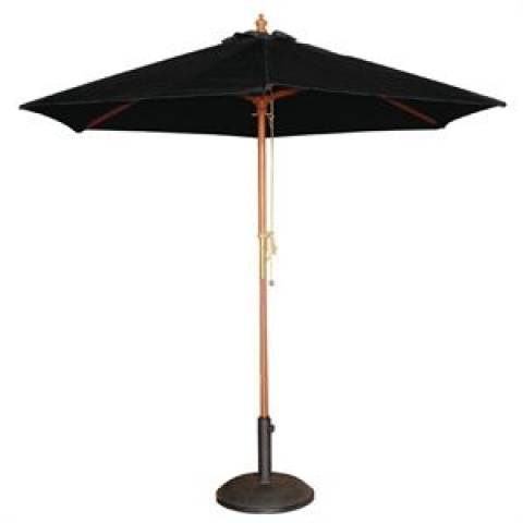 Round Parasol in Black 2.5m