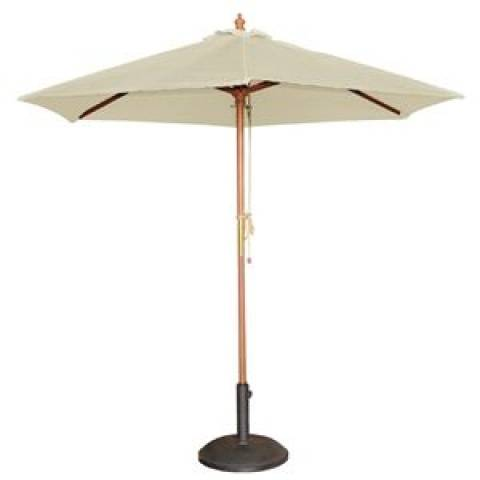 Round Parasol in Cream 2.5m