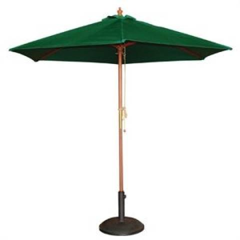 Round Parasol in Green 2.5m
