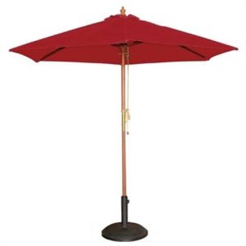 Round Parasol in Red 2.5m